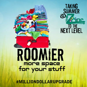 Roomier - more space for your stuff