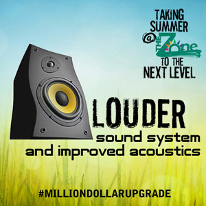Louder sound system and improved acoustics